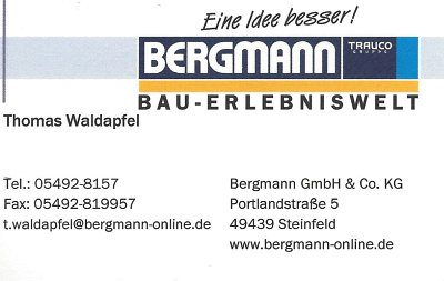 Infohaus Badbergen - Visitenkarte Bergmann