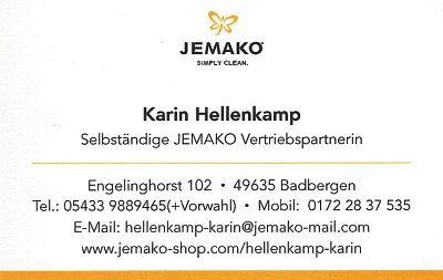 Infohaus Badbergen - Visitenkarte Jemako