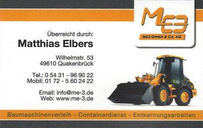 Infohaus Badbergen - Visitenkarte ME3