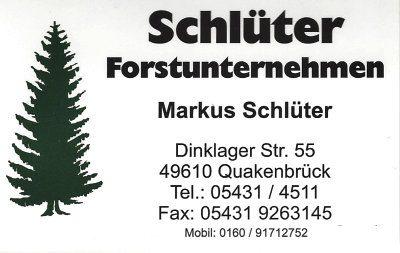Infohaus Badbergen - Visitenkarte Schlüter Forstunternehmen