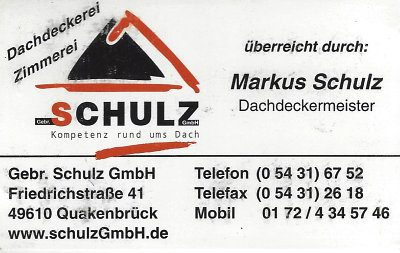 Infohaus Badbergen - Visitenkarte Schulz Dachdeckerei
