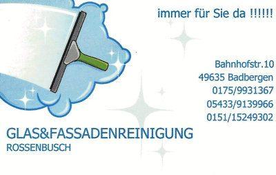 Infohaus Badbergen - Visitenkarte Glas- & Fassadenreinigung Rossenbusch