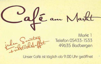Infohaus Badbergen - Visitenkarte Cafe am Markt
