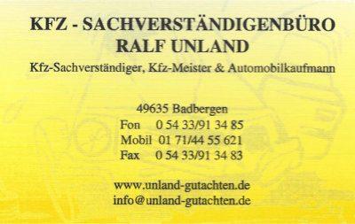 Infohaus Badbergen - Visitenkarte Ralf Unland