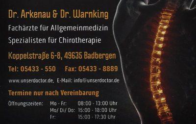 Infohaus Badbergen - Visitenkarte Dr. Arkenau & Dr. Warnking