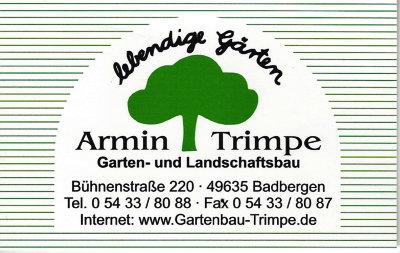 Infohaus Badbergen - Visitenkarte Garten- und Landschaftsbau Armin Trimpe