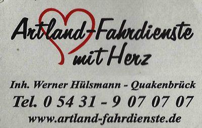 Infohaus Badbergen - Visitenkarte Artland-Fahrdienste