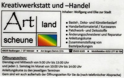 Infohaus Badbergen - Visitenkarte Artlandscheune