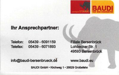 Infohaus Badbergen - Visitenkarte Baudi Bersenbrück