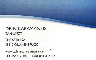 Infohaus Badbergen - Visitenkarte Zahnarzt Dr. Karamanlis