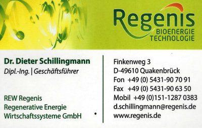 Infohaus Badbergen - Visitenkarte Langweger Regenis - Dr. Dieter Schillingmann
