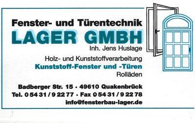 Infohaus Badbergen - Visitenkarte Lager GmbH