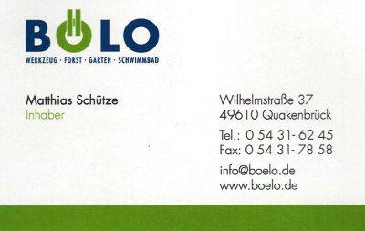 Infohaus Badbergen - Visitenkarte Bölo Matthias Schütze