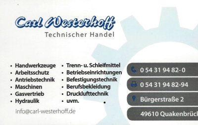 Infohaus Badbergen - Visitenkarte Carl Westerhoff
