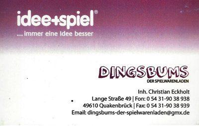Infohaus Badbergen - Visitenkarte Dingsbums Christian Eckholt