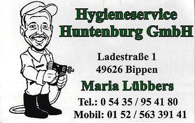Infohaus Badbergen - Visitenkarte Hygieneservice Huntenburg - Maria Lübbers