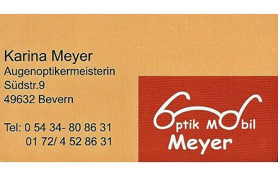 Infohaus Badbergen - Visitenkarte Mobil Optik Meyer