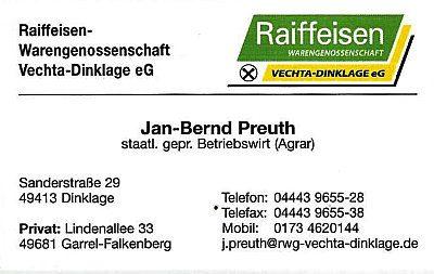 Infohaus Badbergen - Visitenkarte Raiffeisen Warengenosstenschaft Vechta-Dinklage - Jan-Bernd Preuth