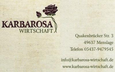 Infohaus Badbergen - Visitenkarte Karbarosa